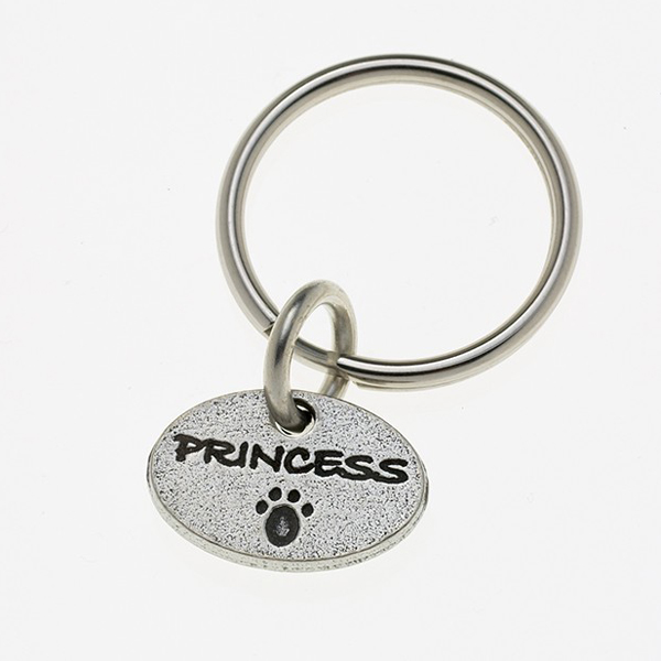 Pewter Pet Lover Keychain - Princess