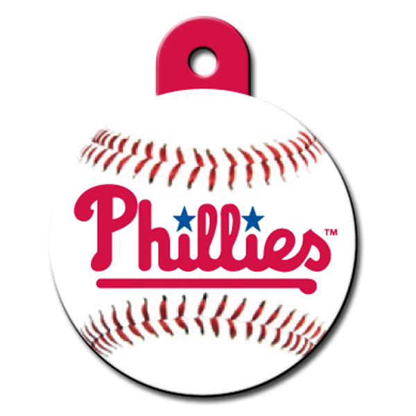 Philadelphia Phillies Engravable Pet I.D. Tag