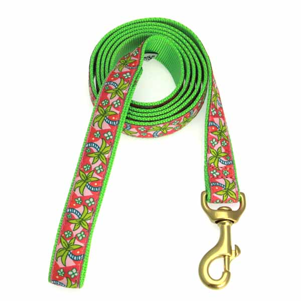 Pink Palms Dog Leash by Up Country