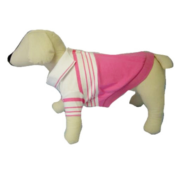 Pink Striped Polo Dog Shirt