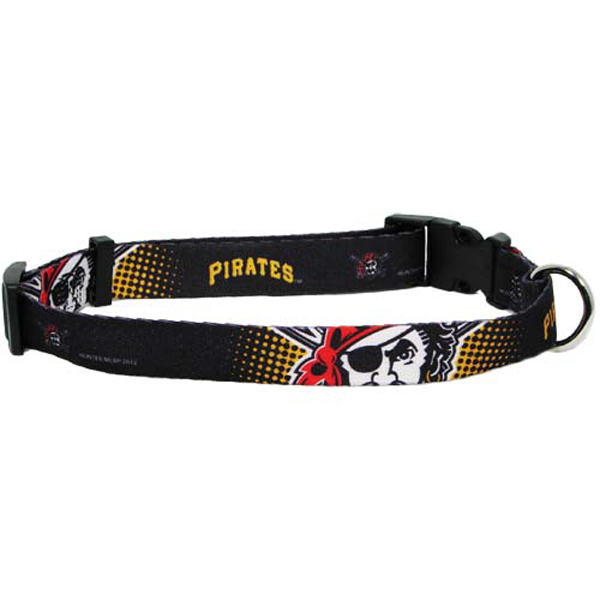 Pittsburgh Pirates Baseball Printed Dog Collar - Black