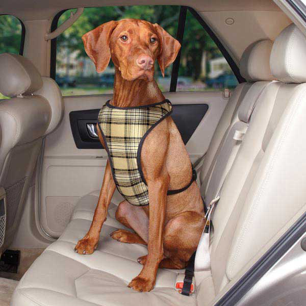 Plaid Car Harness by Guardian Gear - Tan