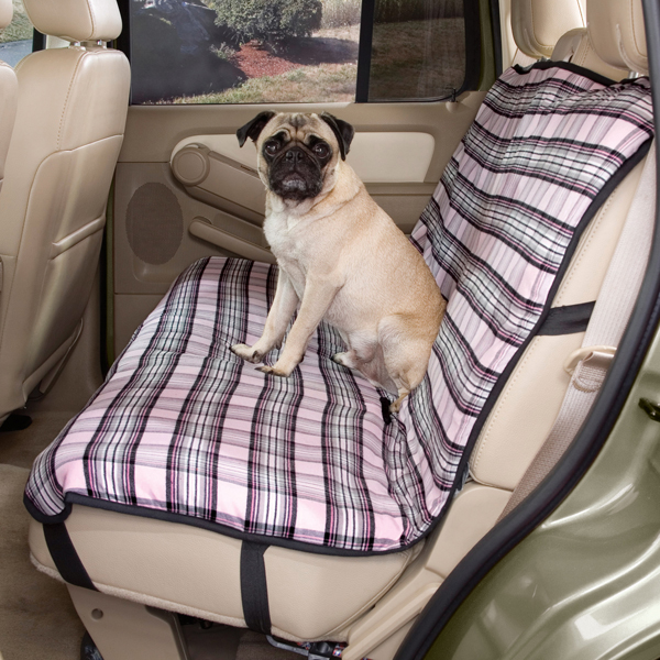 Plaid Car Seat Cover - Pink