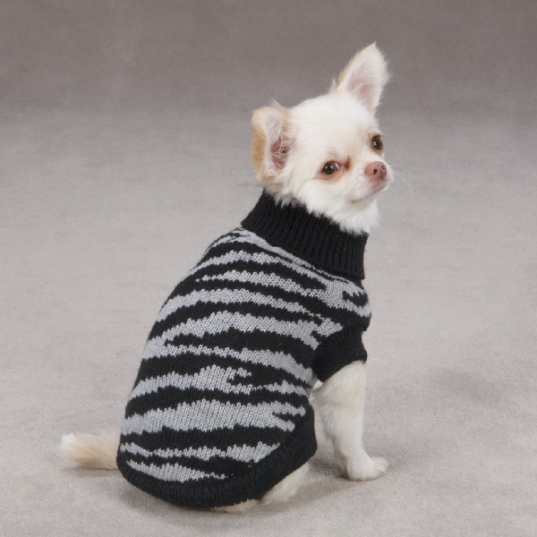 Platinum Print Zebra Dog Sweater