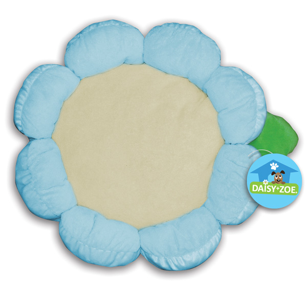 Plush Flower Dog Bed - Blue