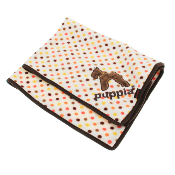 Polka Dot Dog Blankie by Puppia - Brown