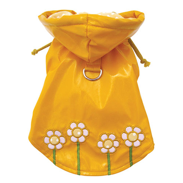 Polka Dots & Daisies Dog Raincoat by Klippo