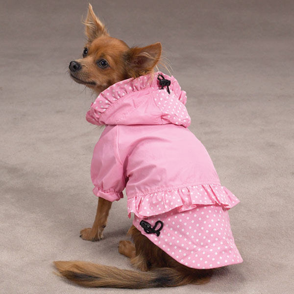 Polka Dots and Ruffles Raincoat - Pink
