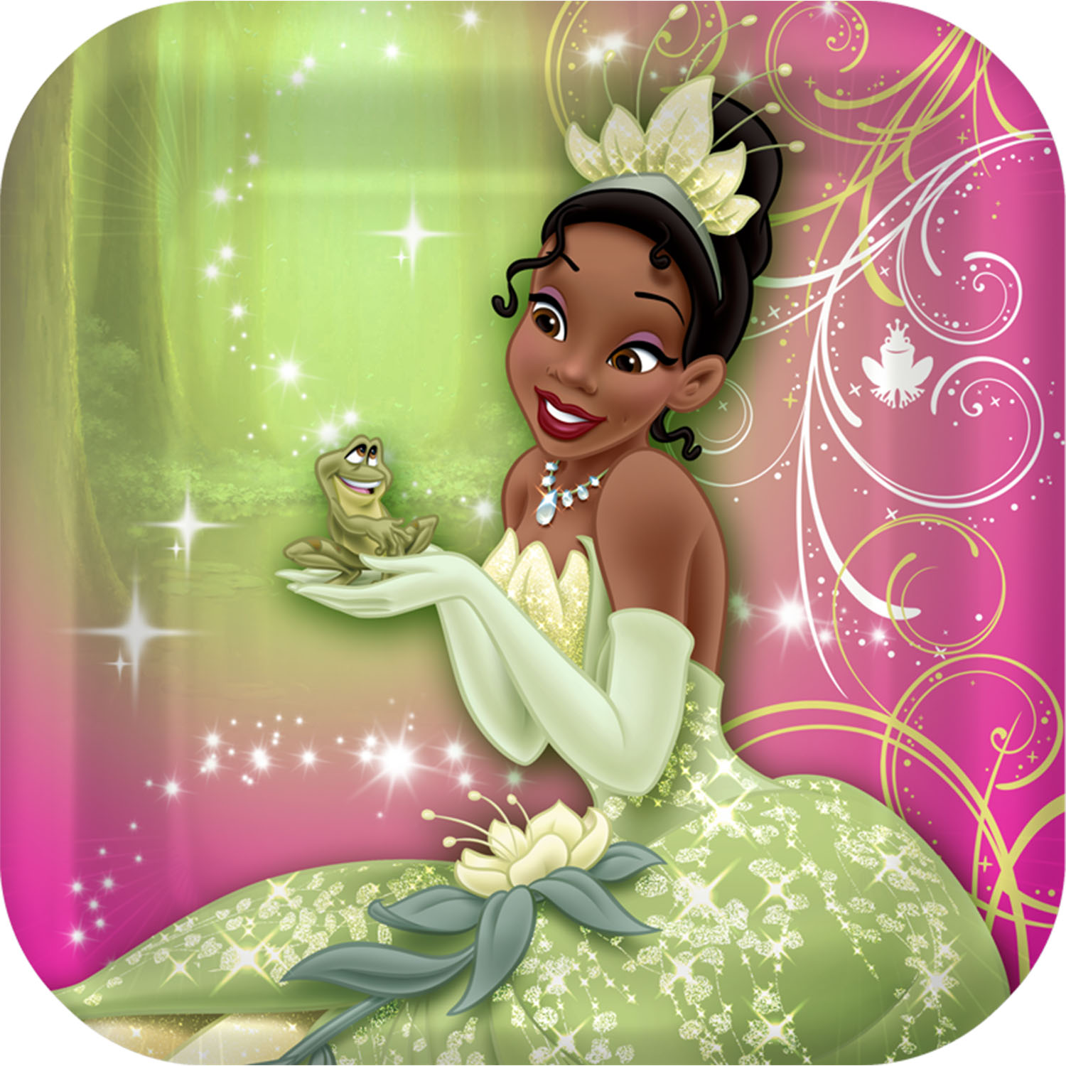 Princess And The Frog Sparkle Party Supplies Dessert