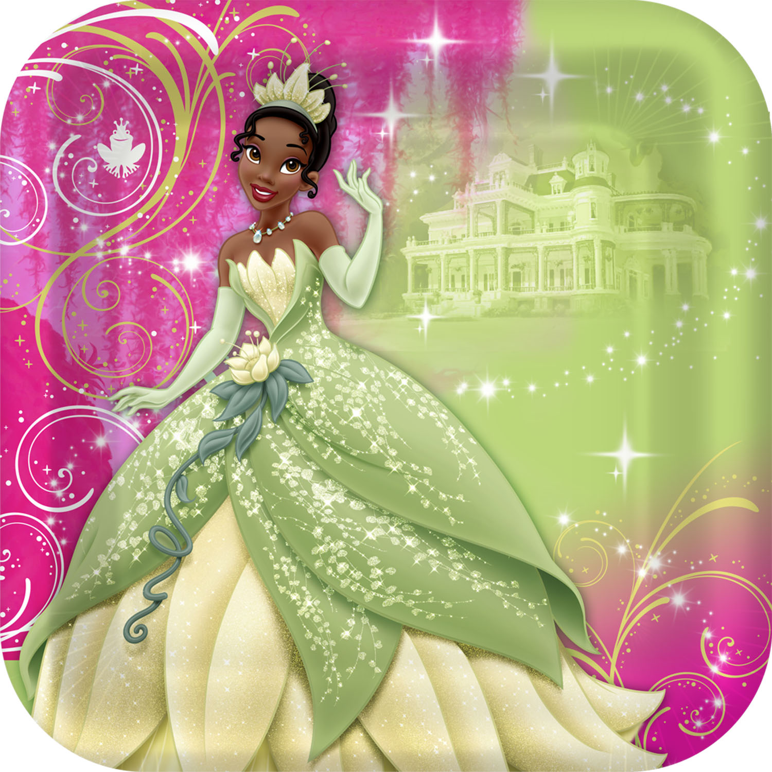 sc 1 st  ToyStop & Princess and the Frog Sparkle Party Supplies - Dinner Plates at ToyStop
