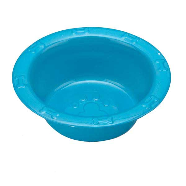 ProSelect Embossed Stainless Steel Feed Bowl - Blue