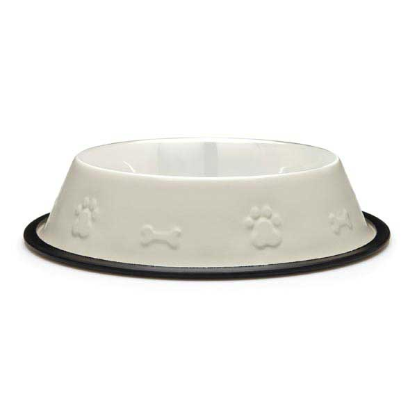 ProSelect Embossed Stainless Steel Non-Skid Bowl - Ivory