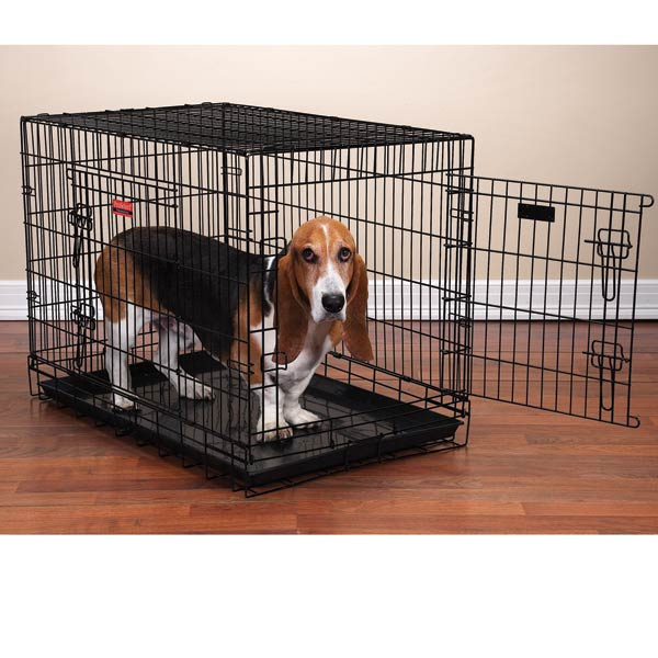 proselect everlasting dualdoor folding dog crate black