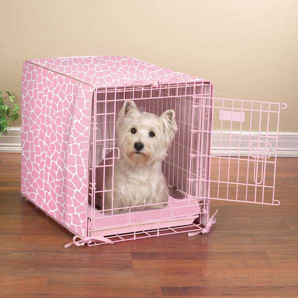 ProSelect Sweet Safari 2-Piece Crate Cover and Bed - Petal Pink
