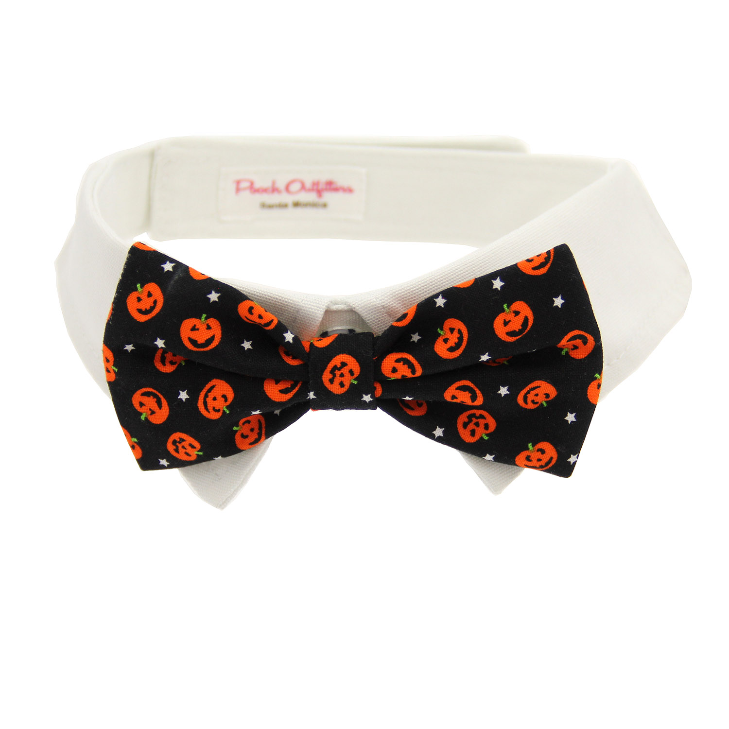 Pumpkin Dog Shirt Collar And Bow Tie With Same Day