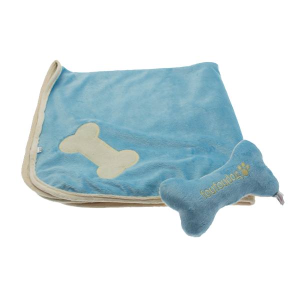 Puppy Blanket and Toy Set - Blue