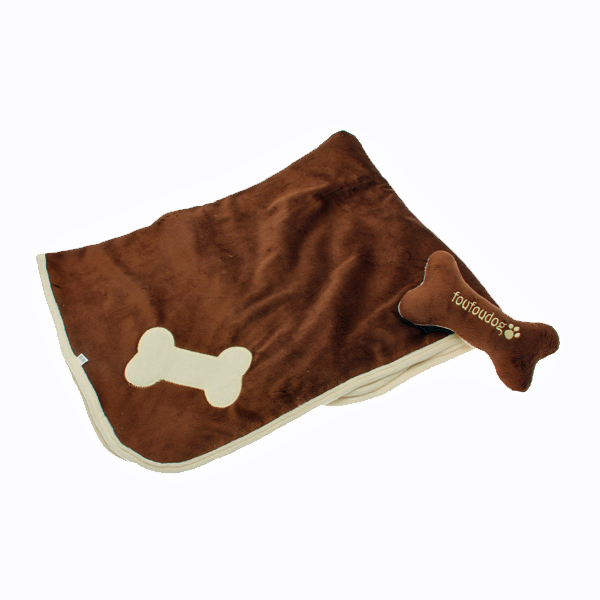 Puppy Blanket and Toy Set - Brown