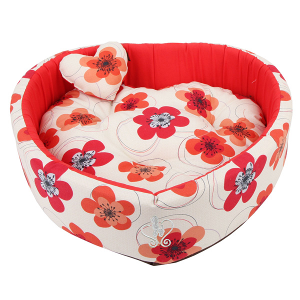 Ramona Heart Dog Bed by Pinkaholic - Red