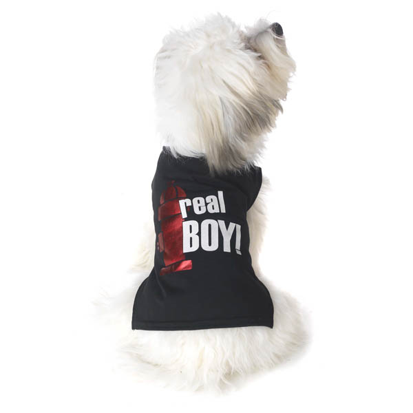 Real Boy Dog T-Shirt - Black