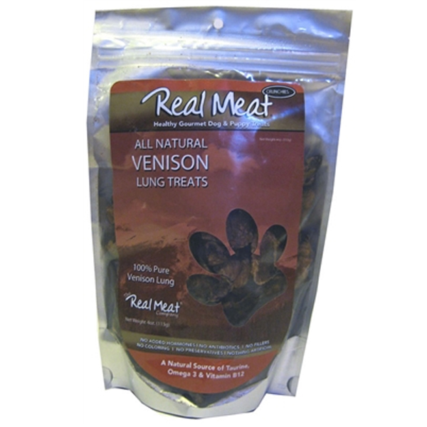 Real Meat Air Dried New Zealand Venison Lung Treats