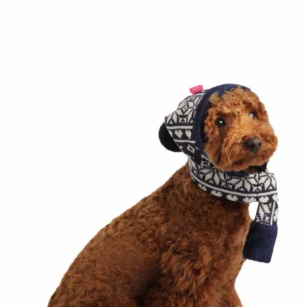 Reindeer Dog Hat by Pinkaholic - Navy