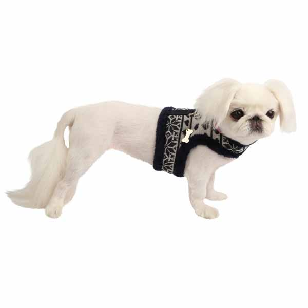 Reindeer Pinka Dog Harness by Pinkaholic - Navy