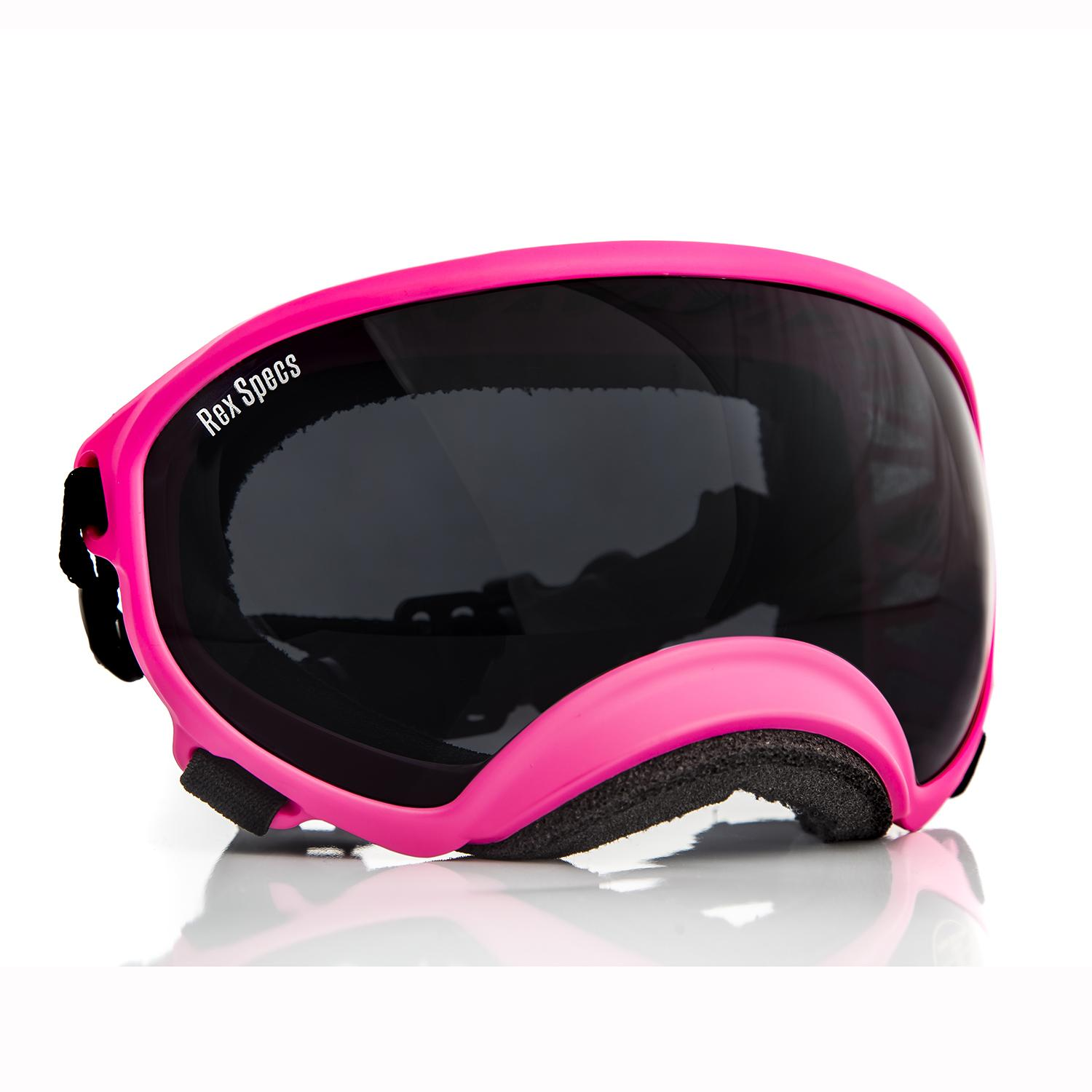 Rex Specs Dog Goggles - Neon Pink with Smoke Lens