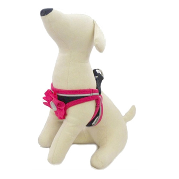 Ribbon Bead Flower Dog Harness