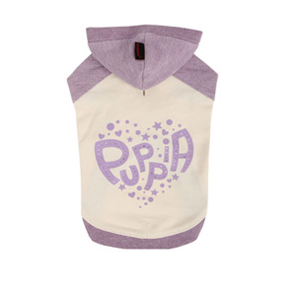 Riley Dachshund Hooded Dog Shirt by Puppia - Ivory