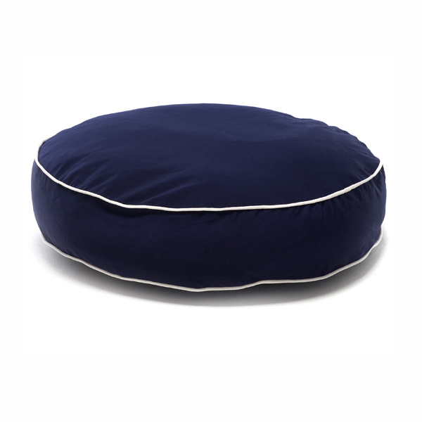 Round Dog Bed by Dog Gone Smart - Navy