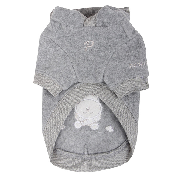 Rudolph Dog Hoodie by Puppia - Gray