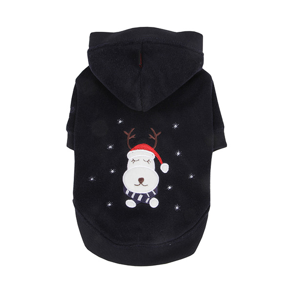 Rudolph Dog Hoodie by Puppia - Navy Blue