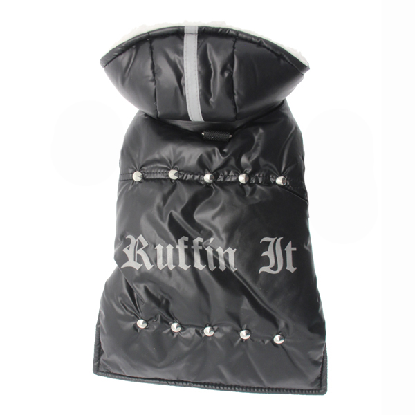Ruffin It Dog Parka - Black