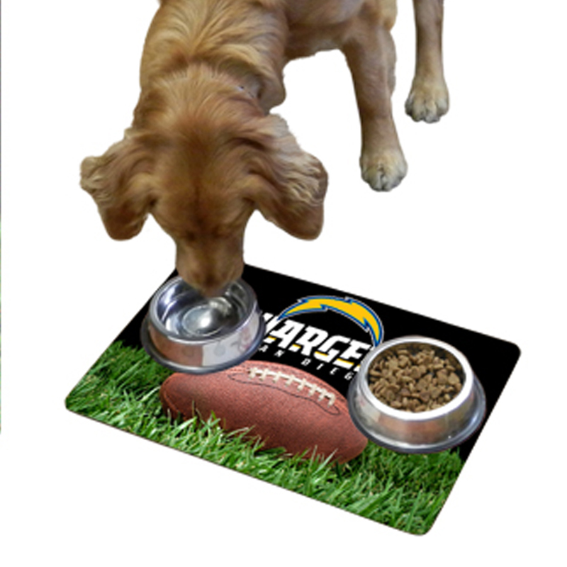 San Diego Chargers Pet Bowl Mat