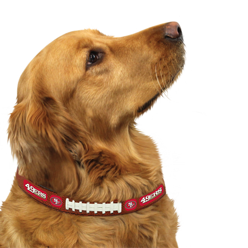 San Francisco 49ers Leather Dog Collar