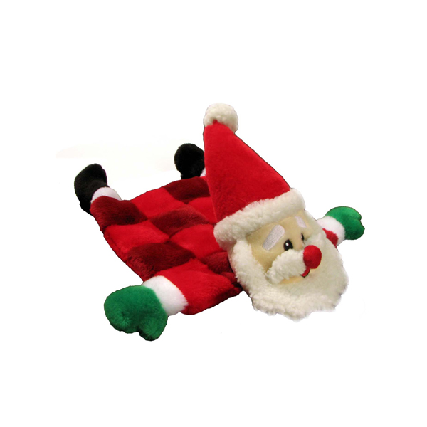 Santa Squeaker Mat Dog Toy