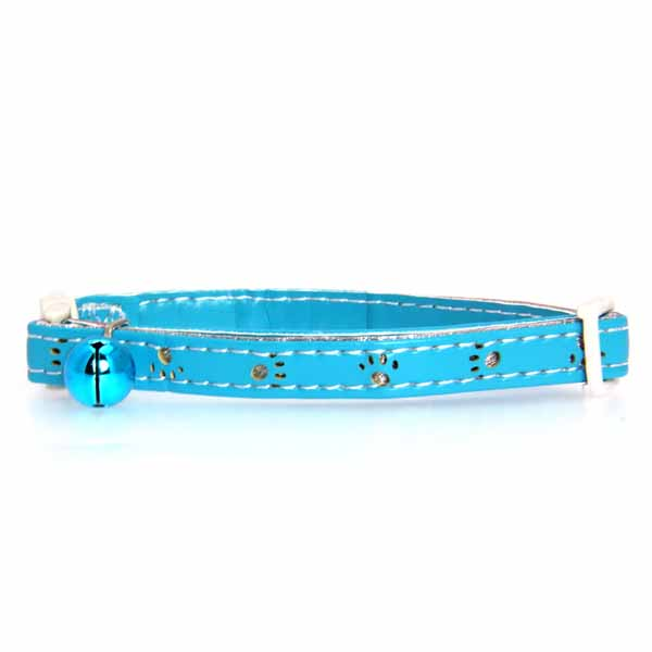 Savvy Tabby Sparkle Paw Cat Collar - Bluebird