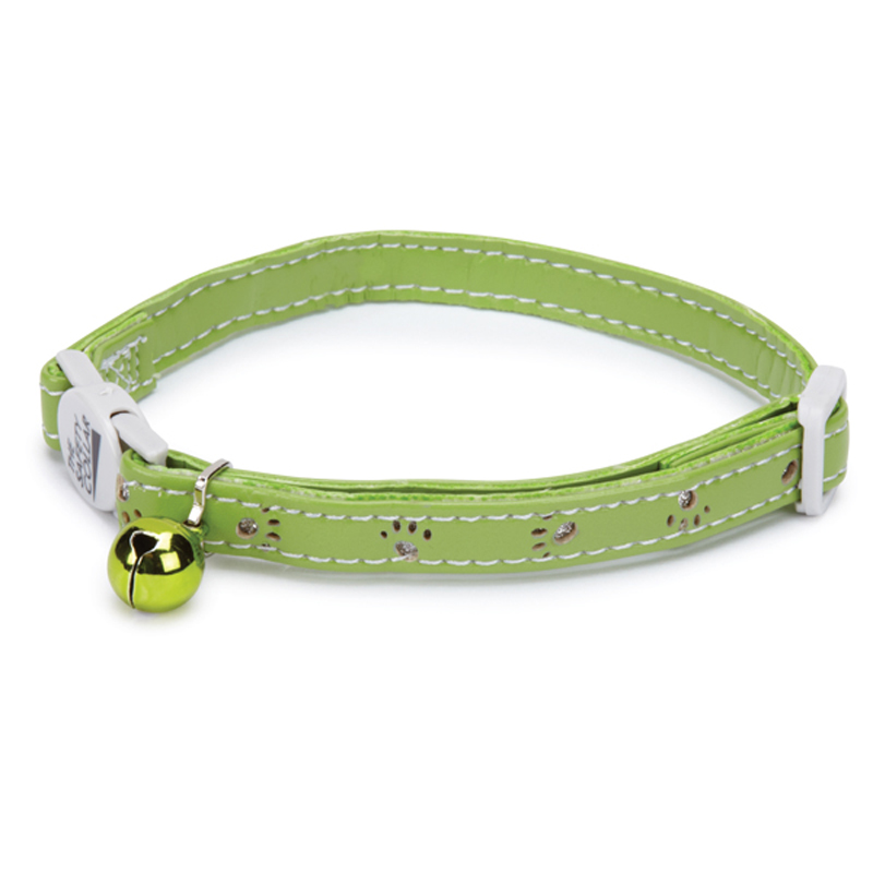 Savvy Tabby Sparkle Paw Cat Collar - Parrot Green