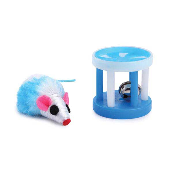 Savvy Tabby Two-Tone Mouse and Roller - Blue