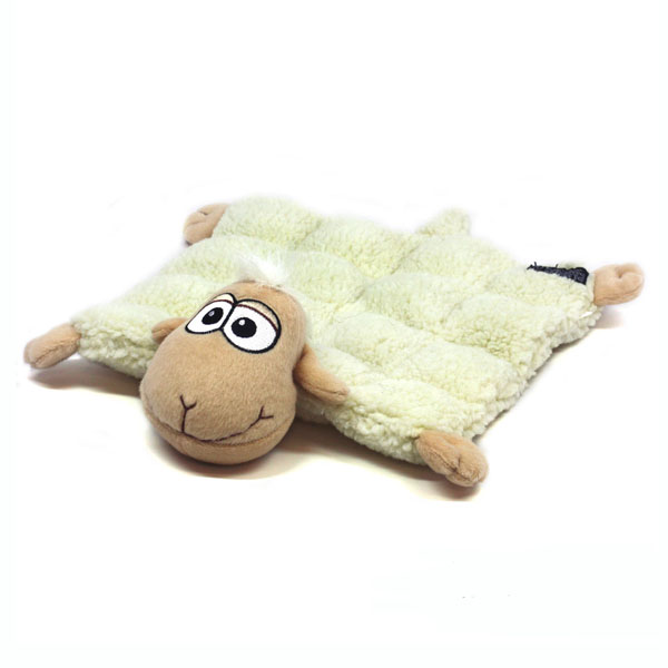 Shelby the Sheep Squeaker Mat Dog Toy