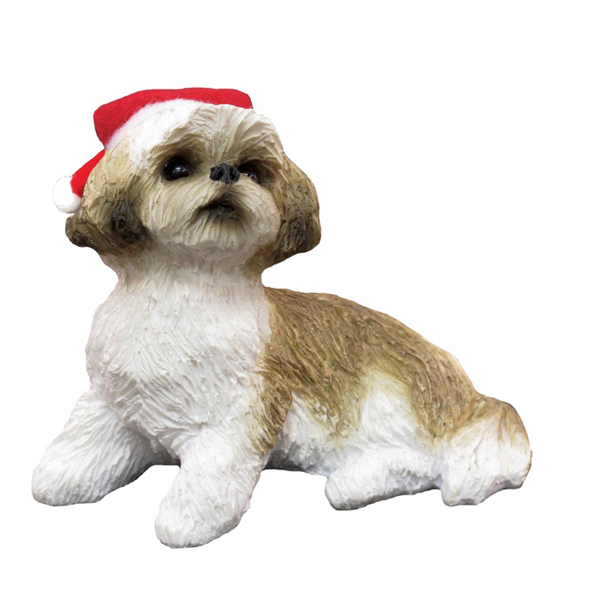 Shih Tzu Sitting Christmas Ornament - Tan