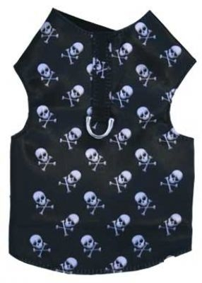 Skull Bone Dog Harness Vest