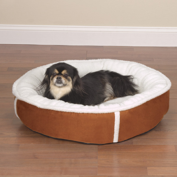 Slumber Pet Classic Sherpa Donut Bed - Chestnut