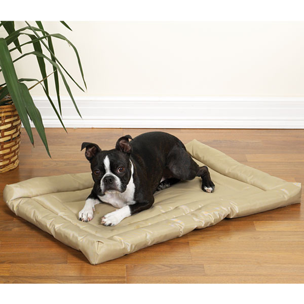 Slumber pet water resistant dog bed tan with same day for Puppy proof dog bed