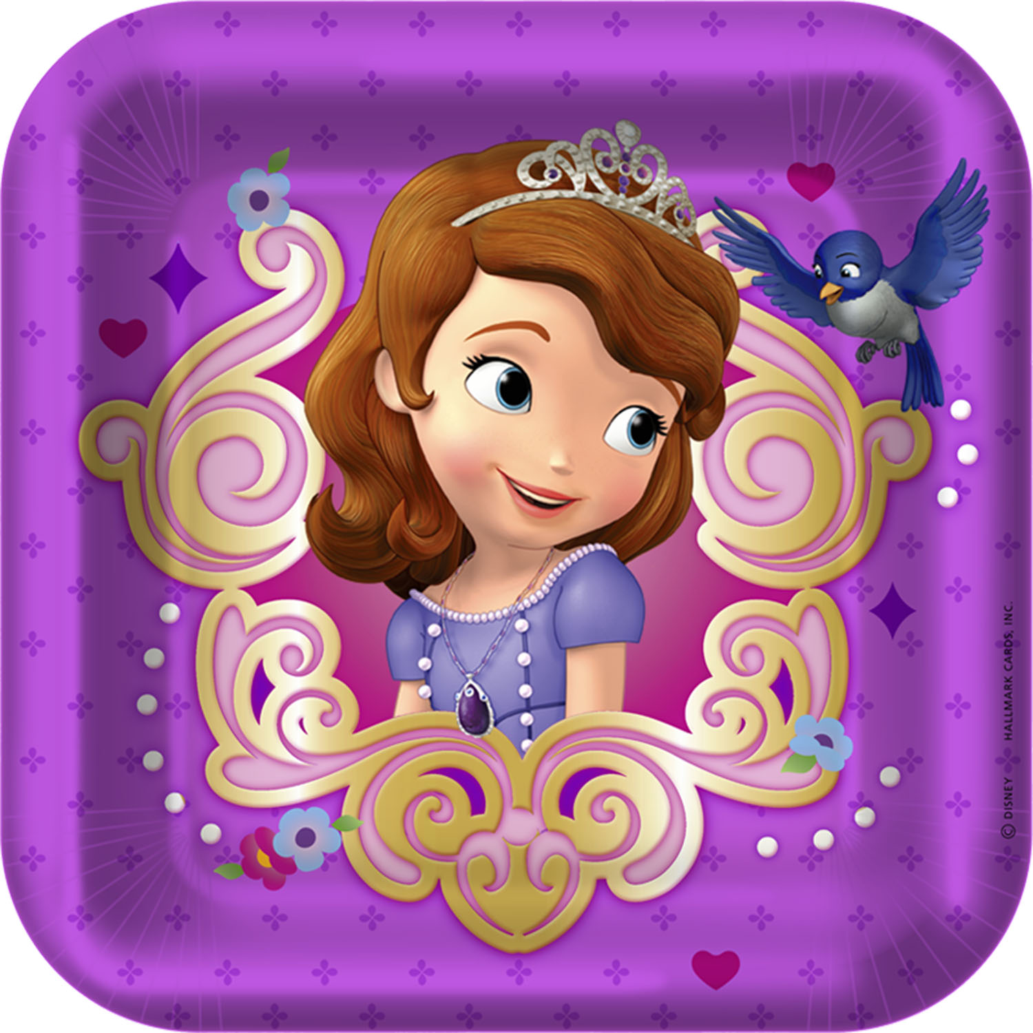 Sofia The First Party Supplies   7 Inch Dessert Plate At ToyStop