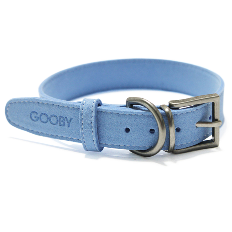 Soft Luxury Dog Collar by Gooby - Blue