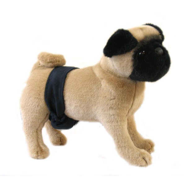 Soft Suede Dog Belly Band by Doggie Design - Navy Blue