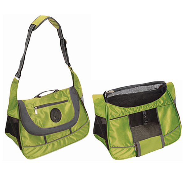 Sport Sack Dog Carrier - Lime Green / Silver
