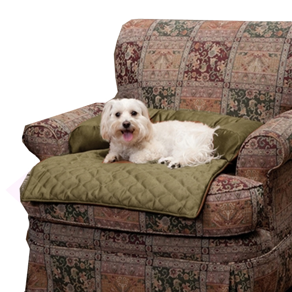Sta-Put Pet Bolstered Furniture Protector by Solvit - Moss
