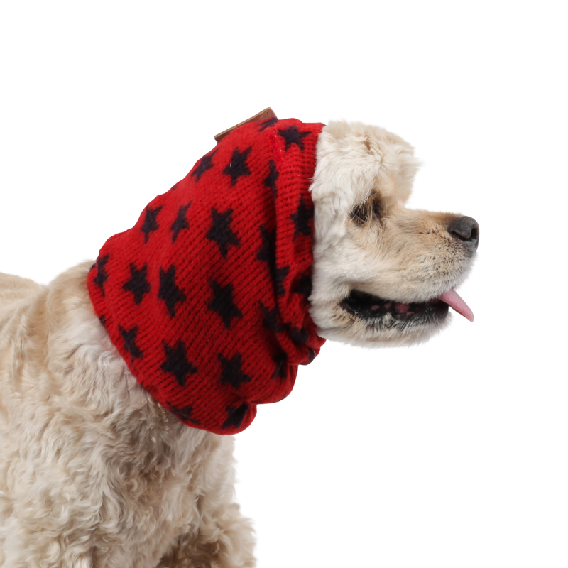 Stellar Dog Snood by Puppia - Red